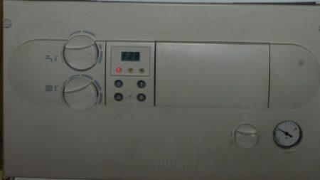 Ошибка F28 на дисплее котла
